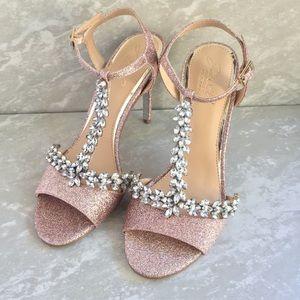 NIB Badgley Mischka Jeweled Heels